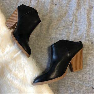 Dolce vita black mule heeled booties sz.8